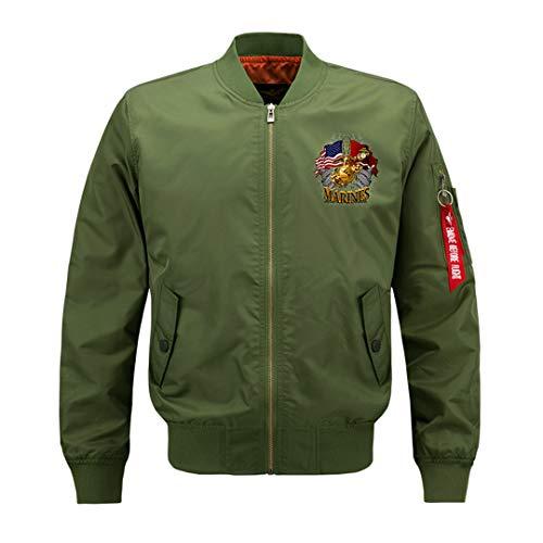 Männer Fliegerjacke Air Force One MA1 Mens Bomberjacken Baseballuniform Parka Mantel Streetwear Große Größe Army Green 7XL