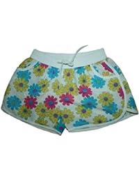 Damen Badeshorts mit Blumen Hawaii Muster Hot Pants Hipster VERSCHIEDENE FARBEN Größe M L XL