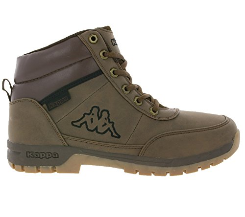 Kappa Bright Mid Light, Stivali Combat Unisex Adulto Marrone