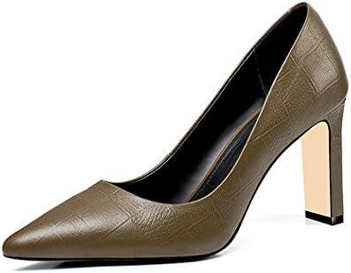wetkiss SA011 - Zapatos de Vestir de Piel Vacuna para Mujer