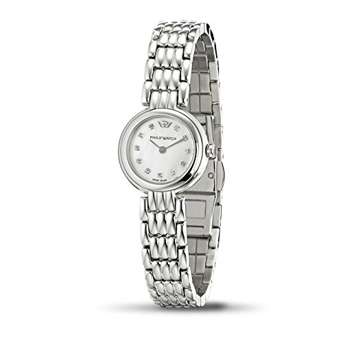 Philip Watch Caribbean r8253107510 – Ladies Watch – Analogue Quartz – Black Dial – Steel Bracelet Silver