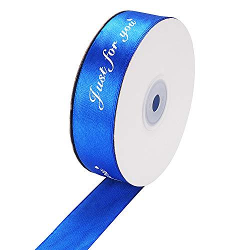 Molshine Solid Color Handcraft Stoff Satin Band für DIY Hochzeit Party Dekoration Geschenk Verpackung Schleife 25mm 50yd BU 50 Yard Organza Satin