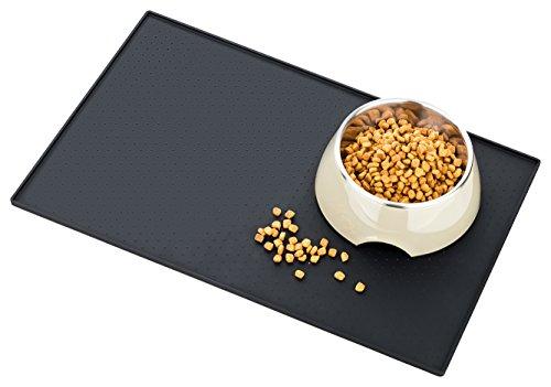 Napfunterlage von Smart Animal - Premium Silikon Napfunterlage für Katze und Hund | Abwaschbare Schmutzfangmatte mit hohem Rand | Rutschfest und einfache Reinigung | Design schlicht und zeitlos | 100 % Zufriedenheit und 2 Jahre Garantie