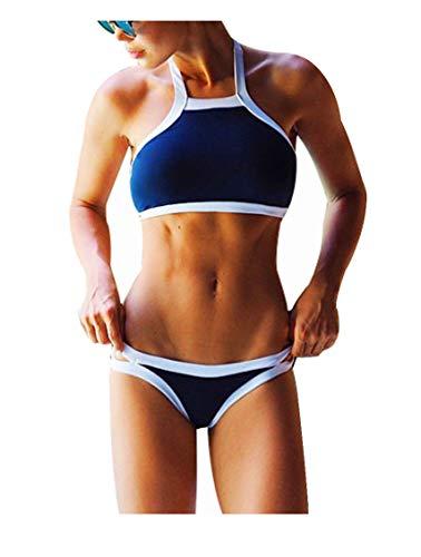 a740dfbce958 DFXIU Pad Sportivo Sexy Donna Bikini Copricostume Costume Donna Mare Due  Pezzi Ragazza Mare Costume da