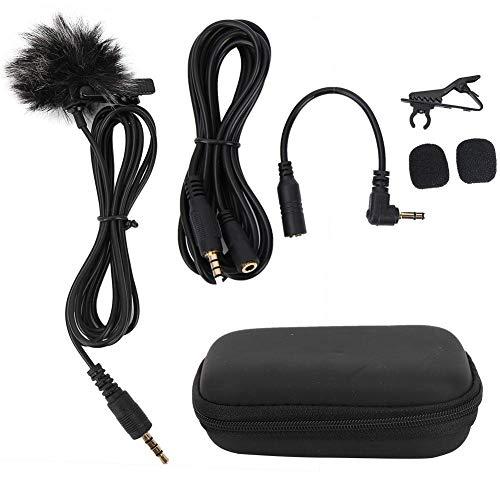 Tosuny Lavalier-Mikrofon Tragbares 3,5-mm-Lavalier-Ansteckmikrofon für PC, Laptop, Handys, Tablets, Aufnahmestifte, Spiegelreflexkameras usw