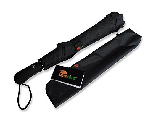 umenice-premium-foldable-golf-umbrella-automatic-8-rib-vented-210t-fabric-black-color
