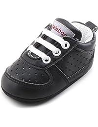DELEBAO Zapatillas de Niño Zapatos para Bebé Primeros Pasos Calzado de Bebes Zapato con Cordones y Suela de Goma