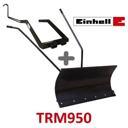 Lame à Neige 118 cm Noire + adaptateur pour Einhell TRM950