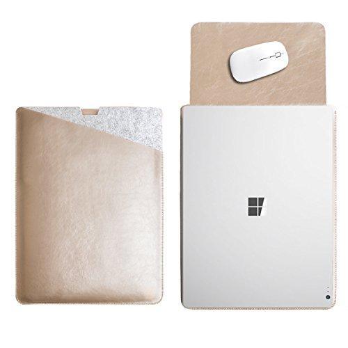 WALNEW 13.5 Microsoft Surface Book 1/2 13.5 Zoll Schutzhülle, Hülle, Case, Cover, mit Zwei-Taschen-Design mit Geschütztem Inneren und Externem Mousepad