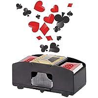 Wei Shang - Máquina de Saltar automático, Dos Tablas, Profesional, para Tarjetas de Casino, Color Negro y plástico