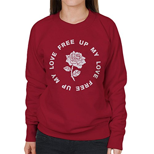 MIA Free Up My Love Rose White Women's Sweatshirt (Mia Sweatshirt Womens)