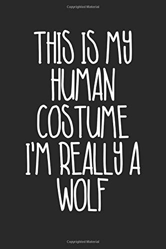 Halloween Notebook - Halloween Gift for Animal Lover - Halloween Wolf Journal - Wolf Diary: Medium College-Ruled Journey Diary, 110 page, Lined, 6x9 (15.2 x 22.9 cm)