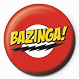 The Big Bang Theory - Bazinga - Ansteck Button Ø2,5 cm