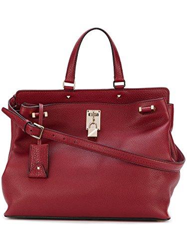 Valentino-Garavani-Womens-NW2B0A54VSLU27-Red-Leather-Handbag