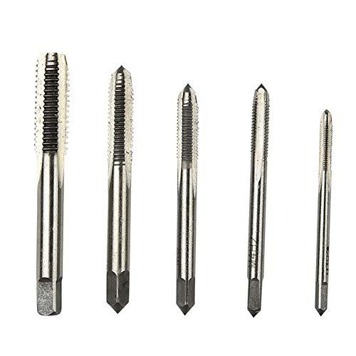 ETbotu 5 Stück Gewindebohrer Gewindebohrer HSS metrischer Plug Handgewindebohrer Set M3/M4/M5/M6/M8 für Werkzeugmaschinen