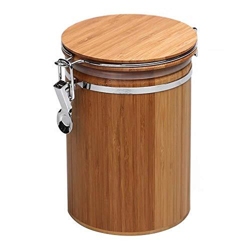 Chengstore Aufbewahrungsbehälter aus Holz mit luftdichtem Verschlussklammer, Bambusdeckel für...