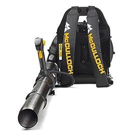 Souffleur à dos thermique McCulloch GB 355BP : Souffleur/aspirateur de jardin d'une puissance de 1500 W, vitesse de rotation variable, avec harnais pour le dos (N° d'art.00096-70-887.01)