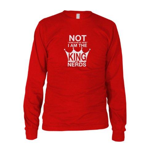 King of Nerds - Herren Langarm T-Shirt Rot