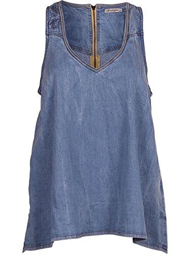 Wrangler Damen Top W514a222h light blue, Größe:S;Farbe:light blue (22H)