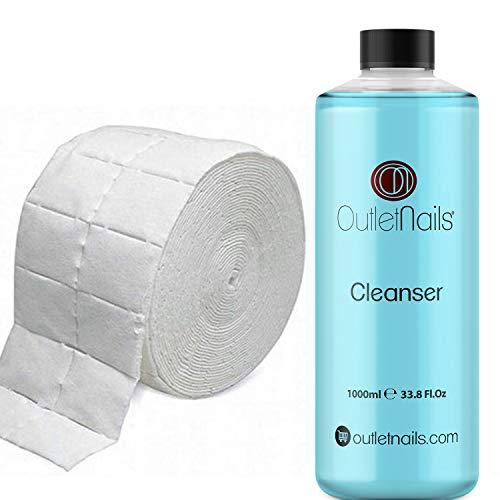 Cleaner Gel 1000ml Aroma Coco Azul + 500