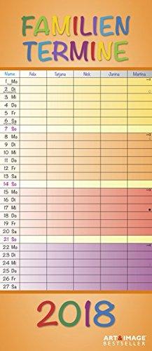 Regenbogen 2018 - A&I Familienplaner mit 5 Spalten, Familienkalender - 19,5 x 45 cm, Buch
