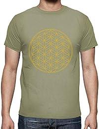 latostadora - Camiseta Flor de la Vida Gold para Hombre