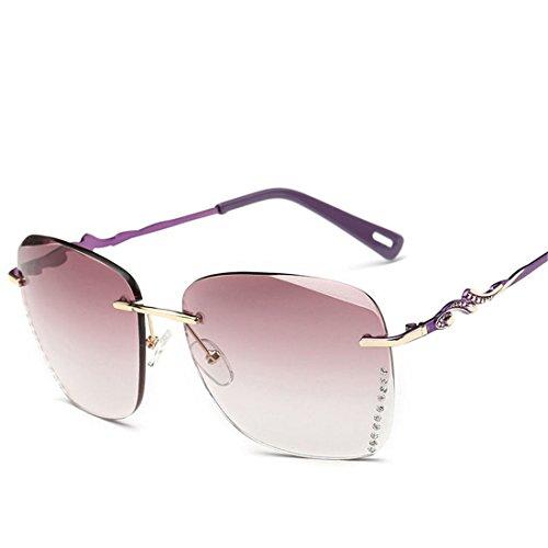 GUO Die Sonnenbrille ohne Rahmen stilvoll und Schneide Sonnenbrille,