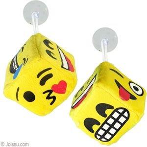 Preisvergleich Produktbild Cute Kids Game Plüschtier Soft Toy Plüsch whats-app Emoji-Dice für Auto Van Bus Truck Caravan Home und Büro Aufhängen Plüschwürfel 10cm x 10cm