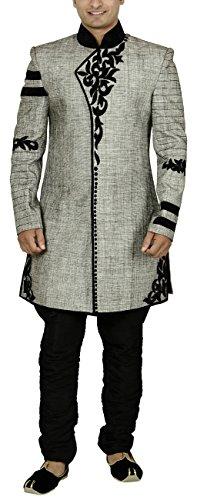 Sargam Nx Men's Jute Sherwani (Grey, 40)