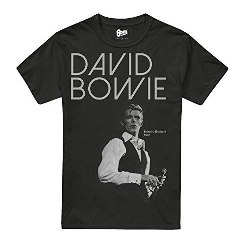 David Bowie Men's STARE Regular Fit Crew Neck Tee