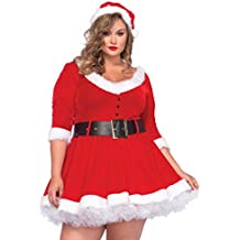 Leg Avenue 85411X - disfraz de vestuario como la señora Claus, mujer, XL/