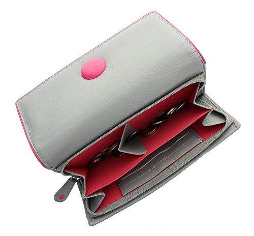 Mala cuoio del tasto Collection borsa 3261_2 nero grigio
