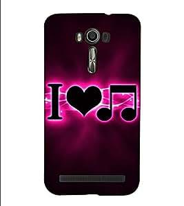 Fuson Designer Back Case Cover for Asus Zenfone 2 Laser ZE601KL (6 Inches) (I love music )