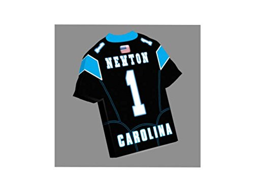 Magneti a forma di maglietta da football americano NFL-Scegli il nome, numero e squadra colori-personalizzazione gratuita. Carolina Panthers NFL Magnet