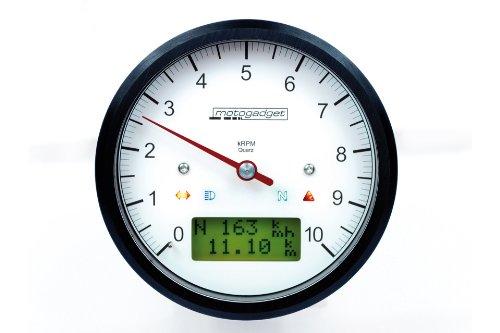 MOTOSCOPE CLASSIC 10CUENTAKILOMETROS LCD  CON CUCHILLO DE VELOCIDAD 0-10 000U/MIN ANILLO  CUERPO COLOR NEGRO  COLOR NEGRO