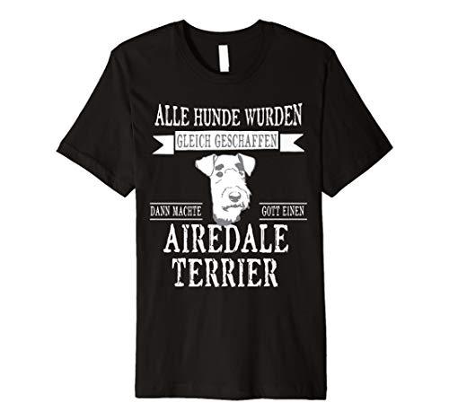 Alle gleich Airedale Terrier Hund Tshirt-Damen Herren Gesche - Terrier-damen T-shirt
