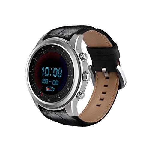 LING NIAN Superleichte Smart Smart Watch, Android5.1 Betriebssystem, Herzfrequenzmessung, Schrittzähler Funktion Usw, RAM 2GB + ROM 16GB Watch,Silver 009 Ram