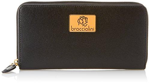 Braccialini Alicia, Portafoglio Donna, Nero, 18.5x10.5x3 cm (W x H x L)