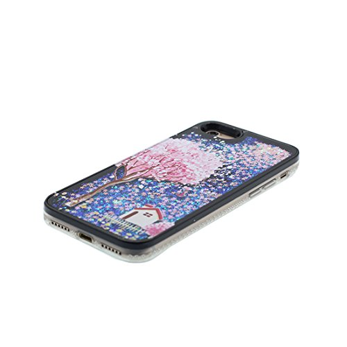 "Hülle iPhone 6, [ Liquid Fließendes Glitzer Bling Bling Floating sparkles] iPhone 6S Handyhülle Cover (4.7 zoll), iPhone 6 Case Shell (4.7"") Anti-Beulen & Ring Ständer - Feder Schwarz 7"