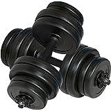 vidaXL 2 Mancuernas Juego de Pesas 30kg Entrenamiento Fuerza Fitness...