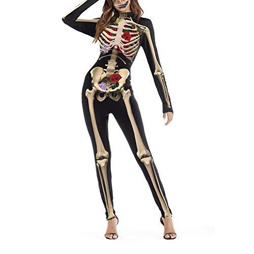 Mono de manga larga para Halloween, unisex, disfraz de calavera,...