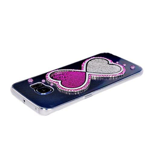 Coque iPhone 6 Plus/6s Plus , iNenk® couleur transparente créatif Sables mouvants liquide téléphone Case TPU doux Housse Etui créative gaine de protection-miroir Entonnoir