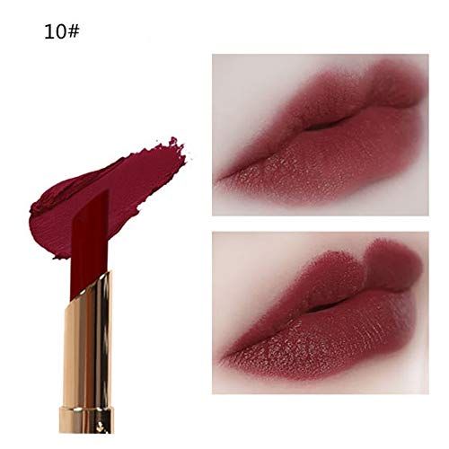 URSING Rouge à lèvres Imperméable à l'eau Couleur Citrouille Mat Mangez Terre Riche en Vitamine E Humidité(10#)