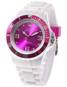 Detomaso - DT3007-G - Colorato - Montre Femme - Quartz Analogique - Cadran Violet - Bracelet Silicone Blanc