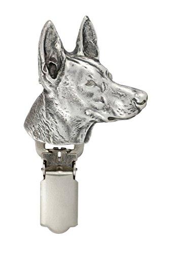 Pharaonenhund, Silberstempel 925, Hund clipring, Hundeausstellung Ringclip/Rufnummerninhaber, limitierte Auflage, Artdog