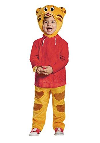Mypartyshirt daniel tiger deluxe toddler costume ragazzi pbs kids orologio tuta rosso
