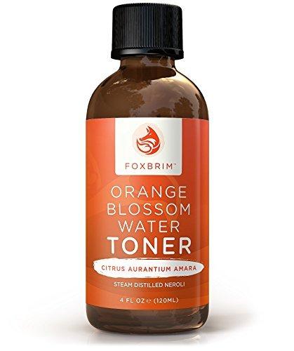 Orangenblütengesichtswasser 120 ml, 100% natürliches Gesichtswasser, Wirkt unterstützend gegen Hautunreinheiten wie Akne, Für ein feineres und gesünderes Erscheinungsbild Alkoholfrei für sensible Haut