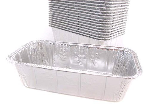 Disposable Aluminum 2 Lb. Loaf Pan , 8 X 3 7/8 X 2 19/32, By Handi- Foil (50) by Handi-Foil USA -