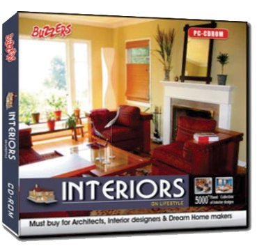Buzzers INTERIORS On Lifestyle (PC CD-Rom) 5000+ Finest Collection of Interiors