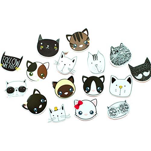 AIUIN 45x Ephemera Set Notizsticker im Stil von Meng Haustier Avatar Aufkleber Japan Mädchen/Junge Sticker für Kinder Deko Sticker -
